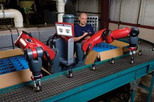 Baxter at Work: Photo courtesy of Rethink Robotics